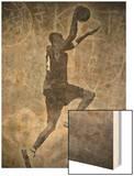 Streetball Dunking Graffiti Wood Print