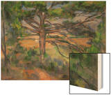 Large Pine Tree and Red Earth, 1890-1895 Prints by Paul Cézanne