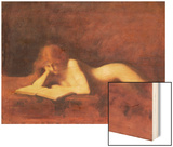 The Reader Wood Print by Jean-Jacques Henner