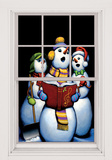 Carolers WOWindow Poster Vinduessticker
