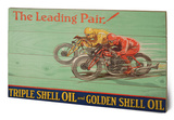 Shell - Leading Pair, 1928 Cartel de madera