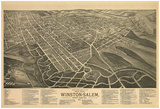 Winston-Salem, North Carolina - Panoramic Map Posters