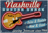 Nashville, Tennessee - Guitar Shack Posters