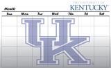 Kentucky Wildcats Dry Erase Calendar Novelty