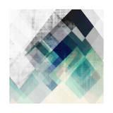 Amy Lighthall - Teal Mountains I - Poster