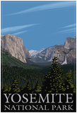 Yosemite Valley Scene, California, C.2009 Posters