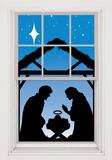 Manger Silhouette WOWindow Poster Naklejka na okno