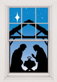 Manger Silhouette WOWindow Poster Window Decal