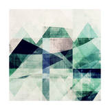 Teal Mountains III Prints by Amy Lighthall