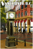 Vancouver, Bc - Steam Clock Print