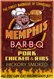 Memphis, Tennessee - Barbecue Poster