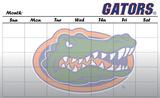 Florida Gators Dry Erase Calendar Novelty
