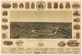 Dallas, Texas - Panoramic Map Posters