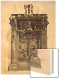 Gates of Hell, C.1890 (Bronze) Wood Print by Auguste Rodin