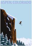 Skier Jumping - Aspen, Colorado Print