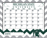 Michigan State Spartans Dry Erase Calendar Novelty