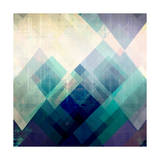 Teal Mountains II Prints by Amy Lighthall