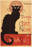Montmarte, France - Chat Noir Cabaret Troupe Black Cat Promo Poster Posters