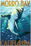 Morro Bay, California - Stylized Sharks Prints