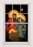 Jesus, Mary & Joseph WOwindow Poster Sticker pour fenêtres