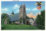 West Point, New York - Exterior View Of The Catholic Chapel Prints