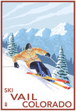 Vail, Co - Downhill Skier Prints