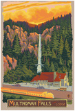 Multnomah Falls Lodge, Oregon Posters