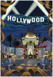 Hollywood, California Scenes Poster