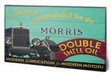 Shell - Morris, 1928 Wood Sign