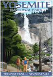 The Mist Trail - Yosemite National Park, California Posters