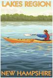Lakes Region, New Hampshire - Kayak Scene Photo