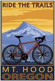 Mt. Hood, Oregon - Ride The Trials Poster