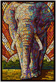 Elephant - Paper Mosaic Posters