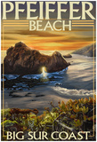 Pfeiffer Beach, California Poster