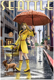 Seattle, Washington - RaiNY Day Girl Prints