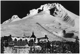 Aerial View Of Timberline Lodge And Ski Lift - Mt. Hood, Or Posters