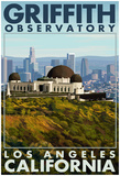 Griffith Observatory Day Scene - Los Angeles, California Posters