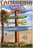 Hermosa Beach, California - Destination Sign Prints