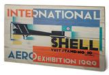 Shell - International Aero Exhibition, 1929 Wood Sign