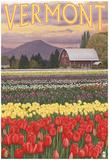 Vermont - Tulip Fields Prints