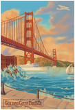 Golden Gate Bridge Sunset - 75Th Anniversary - San Francisco, Ca Print
