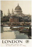 London, England - Great Western Railway St. Paul's Travel Poster Photo