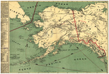 Alaska - Panoramic State Map Prints
