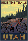 Utah - Mountain Bike Scene Print