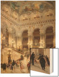 The Staircase of the New Opera of Paris Wood Print by Louis Beroud