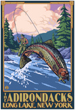 The Adirondacks - Long Lake, New York State - Fly Fishing Posters