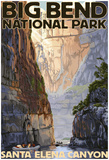 Big Bend National Park, Texas - Santa Elena CaNYon Posters
