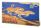 Shell - Cheetahs, 1928 Wood Sign