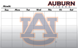 Auburn Tigers Dry Erase Calendar Novelty