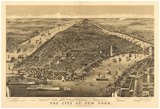 New York City, New York - Panoramic Map Prints